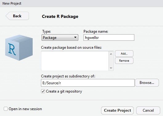 Create New R Package